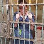 My wife behind bars!