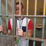 Me behind bars! :)