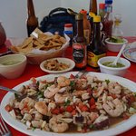 Ceviche and all the fixings