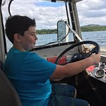 My son and other kids got to steer the Duck / boat on water