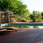 Small pool overlooking the marsh