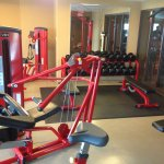 Weight equipment in fitness center
