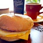 Bacon, cheese and egg bun