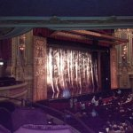 a view of the stage at the Oriental Theatre
