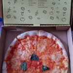 They call this a Margherita - its not; I say its just a cheese pizza.