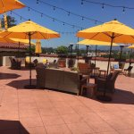 In love with this roof ! Awesome hotel . Great restaurant on property . Centrally located . A bl