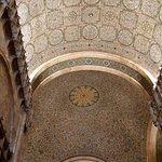 The elaborate ceiling