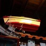 Fishing boat over bar