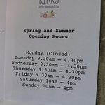 Spring and Summer opening hours