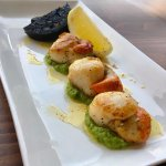 Scallop starter from the kitchen