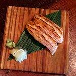 salmon belly nigiri