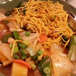 sweet & sour chicken with noodles