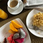 Some of my breakfast one morning - excellent mango!!!