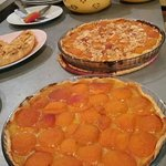 Apricot tarts freshly made