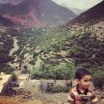 Berber boy in the mountains