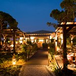 Guests can dine on the Piri Piri Steak House Terrace by night
