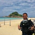first ever photo in a scuba gear