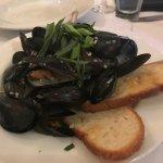 Mussels in a white wine garlic shallot sauce. YUM YUM YUM