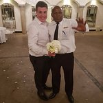 Avianto Staff Member Mike having a good time with the Groom.