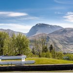Ben Nevis from the Cafe Bistro Decking and Executive Balconies