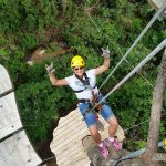 Rappelling to next level on Pine Mountain Zipline Canopy Tour