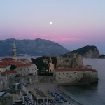 View from the balcony to Budva old town