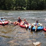 Great day tubing the french broad river.