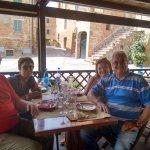 "Lunch ""al fresco"" on the veranda with friends"