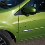 Car covered in bird poo at Cambridge hotel