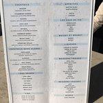 Drinks menu throughout hotel - Jan2017