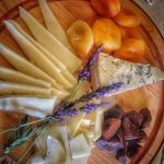 The Canyon Villa's Wine Hour features incredible cheeses emphasizing local creameries.