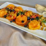 Orange Carpaccio served for Mother Day's Brunch