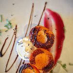 Grilled Apricots from The Canyon Villa's orchard.
