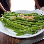 Green beans with shallot butter