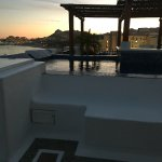 Our rooftop hot tub! It was stunning!