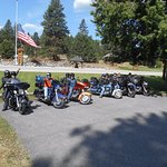 Group of Riders at the Mountain Spirit Inn
