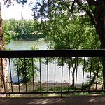 The view of the Rogue River from our balcony.
