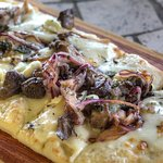 Lunch menu features a variety of flatbreads