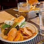 Choose from a selection of sandwich options for lunch.
