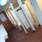 Bathrooms are ok, no A/C makes them warm in the summer months and unlabeled heat lamps keep gett