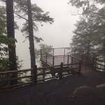 lookout deck at top of falls, wheelchair accessible