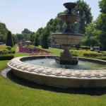 Beautiful manicured gardens and water features