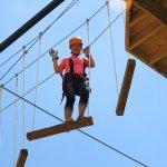 Zipline och höghöjdsparker