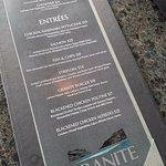 Granite's menu