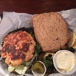 Salmon Burger on Wheat