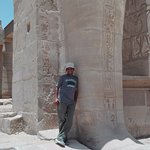 Our tour guide Hassan, at Ramesseum Temple