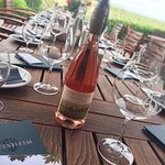 Adelsheim 2016 Willamette Valley Rosé on the outside patio