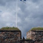 Flag over fortress