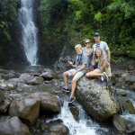 The very first hike for our family went to this beautiful waterfall. ALOHA was flowing from then