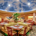 Capt Jack's Buffet rounded sky ceiling